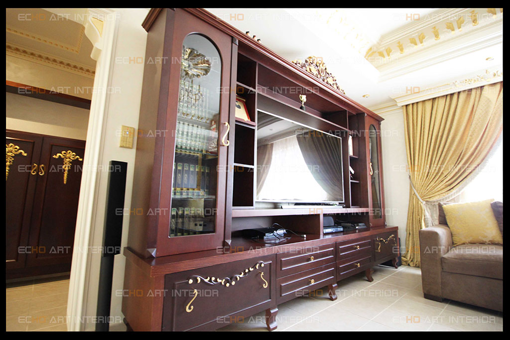 TV units with traditional Arabic and modern artistic style